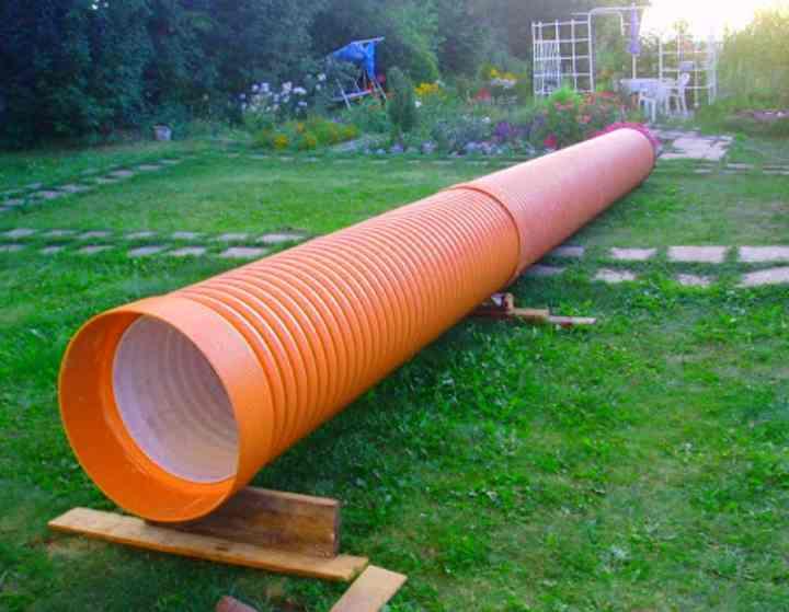 Пластиковая труба для колодца большого размера