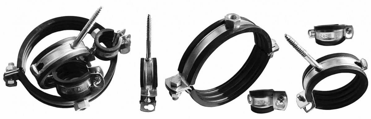 Хомуты для труб: металлические для крепления трубопроводов, размеры и диаметры