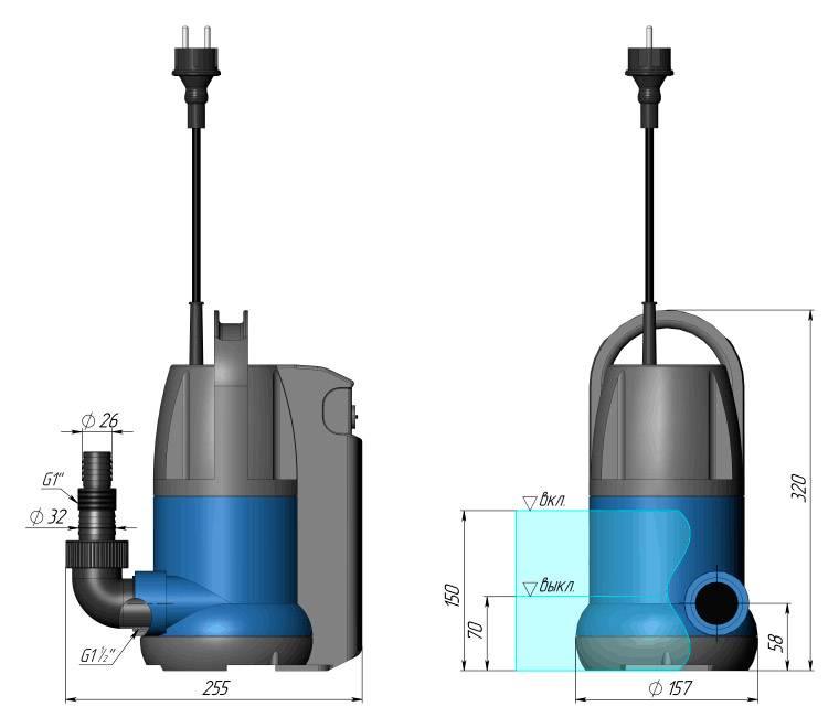 Дренажный насос для грязной воды: погружной и поверхностный, какой лучше, бытовой лучший и мощный