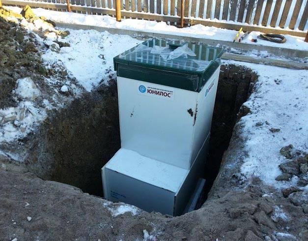 Юнилос астра 5 автономная канализация для частного дома до пяти человек.