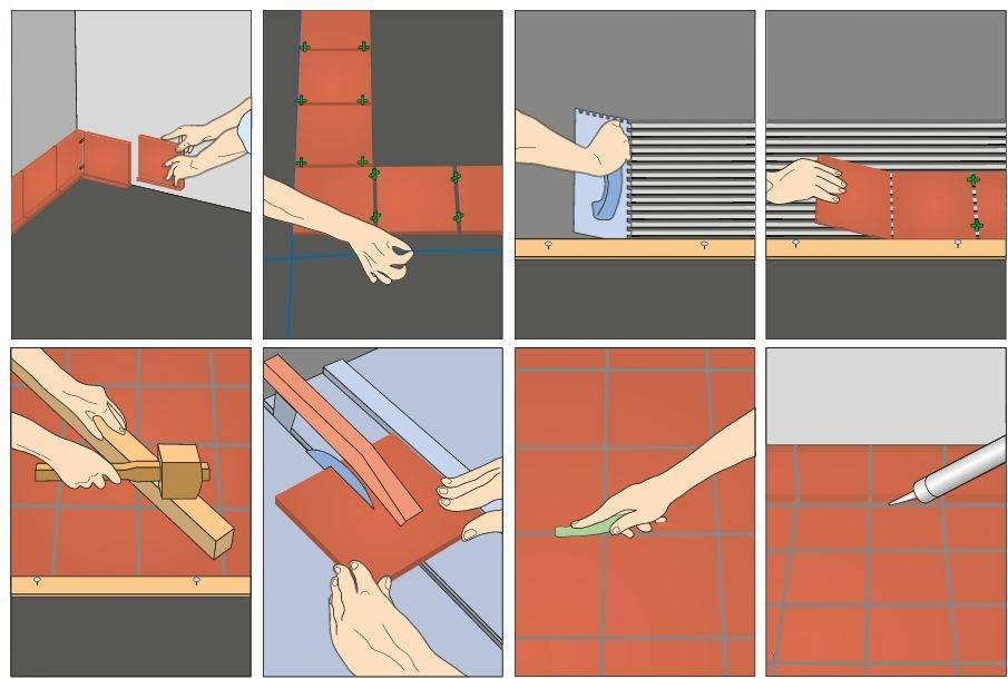 Укладка керамогранита на пол: как правильно класть плитку своими руками