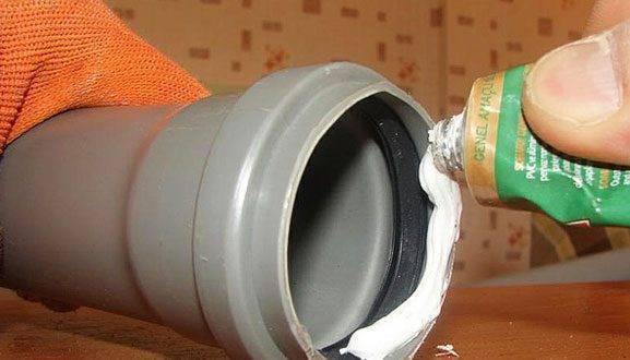 Герметик для канализационных труб: чугунных, пвх и пластиковых