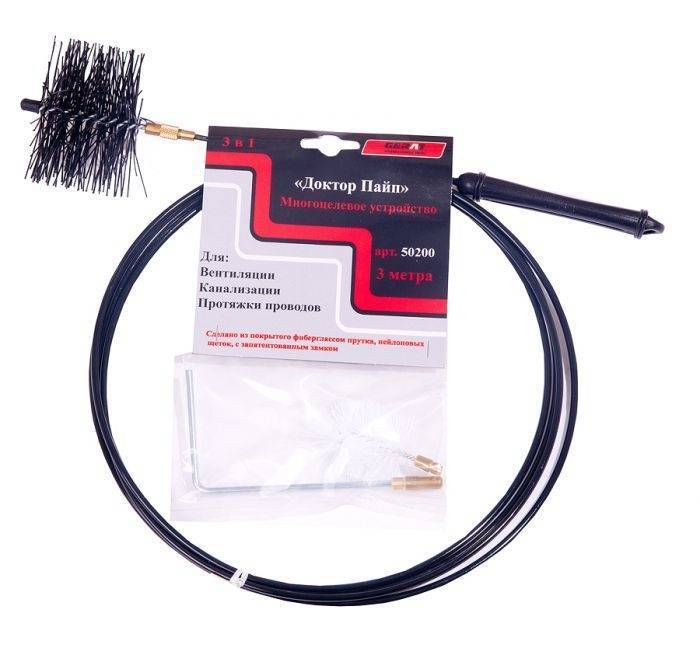 Трос для прочистки канализационных труб и обзор других сантехнических инструментов для механического удаления засора