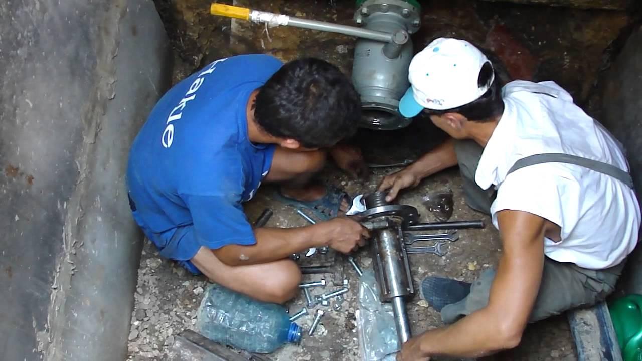Врезка в чугунную трубу водопровода - всё о сантехнике