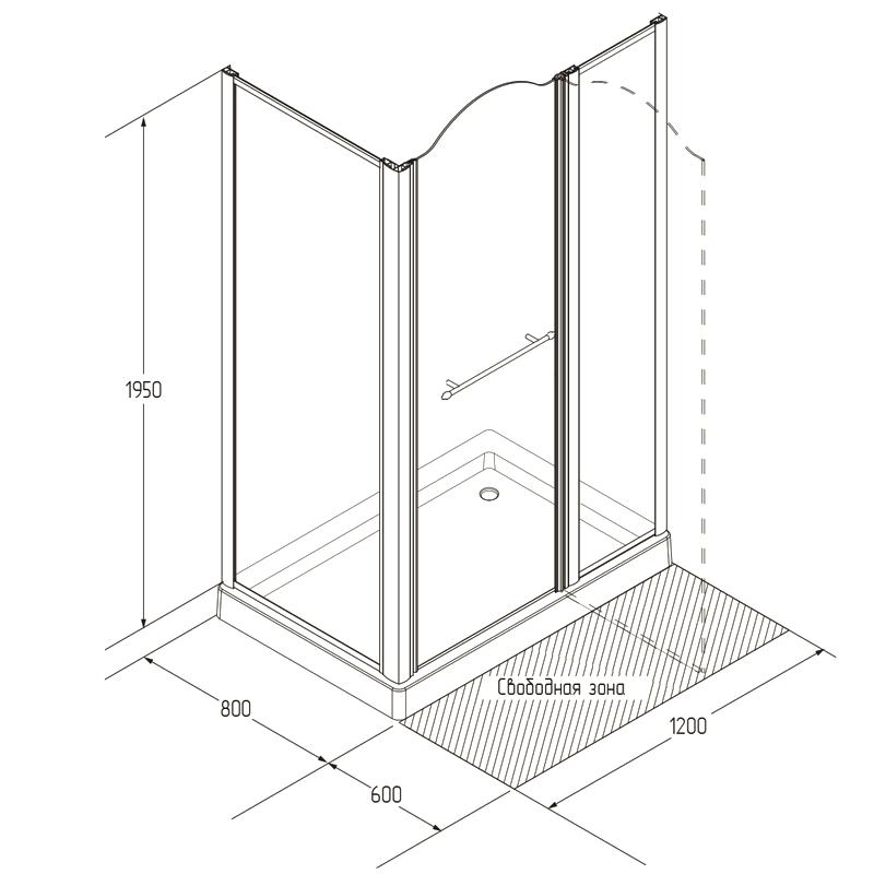 Высота кабинки для душа от пола до потолка в зависимости от разновидности конструкции