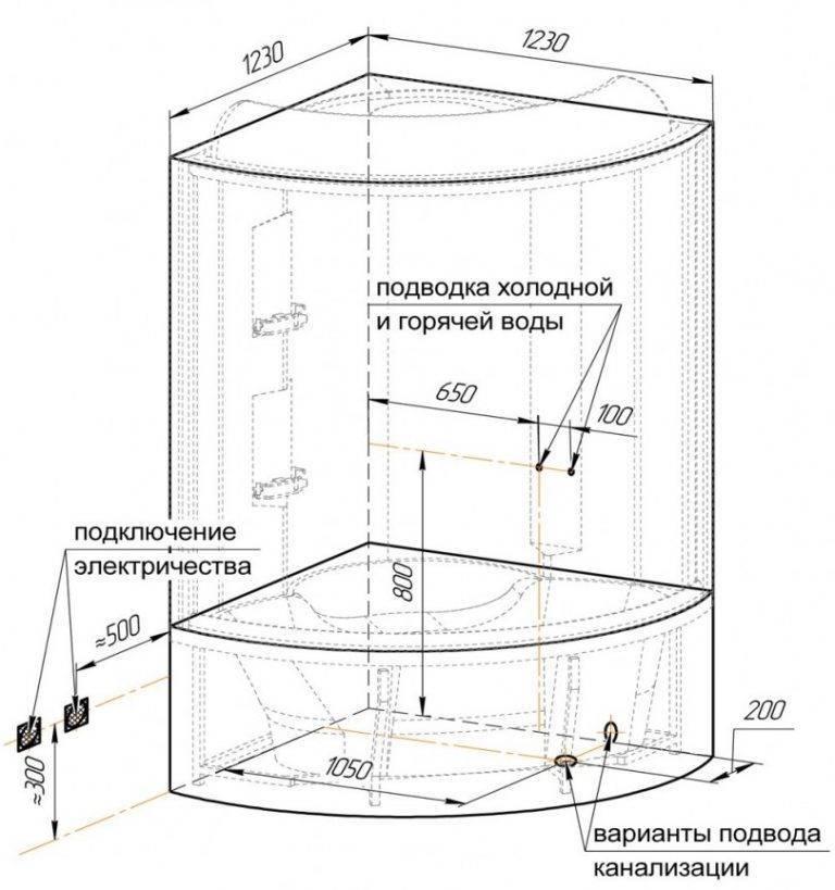 Душевая кабина своими руками: пошаговая инструкция
