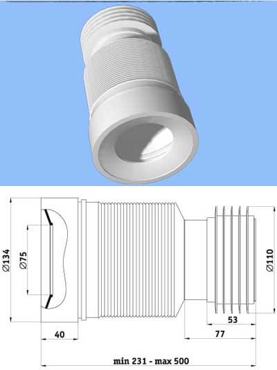 Гофра для унитаза: как выбрать и установить манжет, размеры, монтаж (+ фото)
