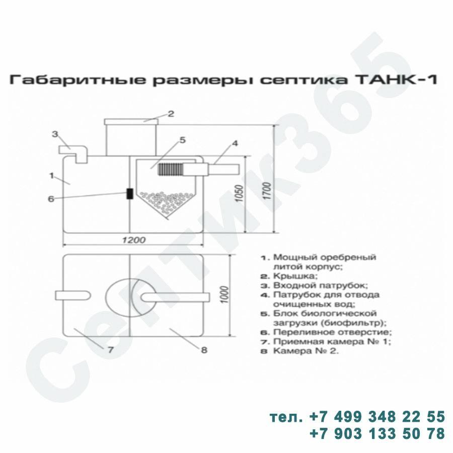 Септик танк 1 устройство, монтаж и принцип работы