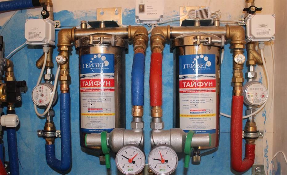 Установка магистрального фильтра для воды: как установить, схема монтажа для горячей и холодной систем водоснабжения