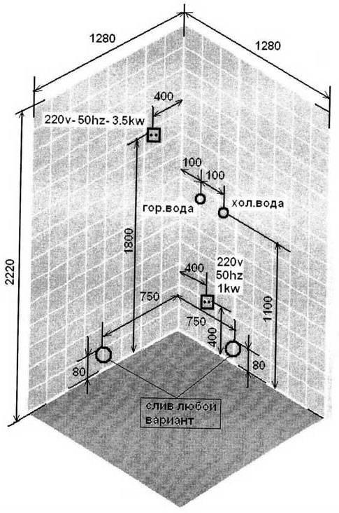 Монтаж душевой кабины: виды кабин, необходимые инструменты для их монтажа, установка угловых и прямоугольных душевых кабин