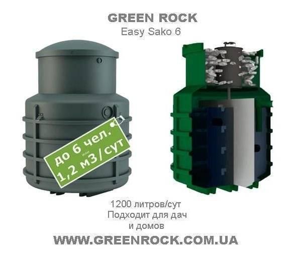 Септик грин рок (green rock): характеристики, конструкция и принцип работы