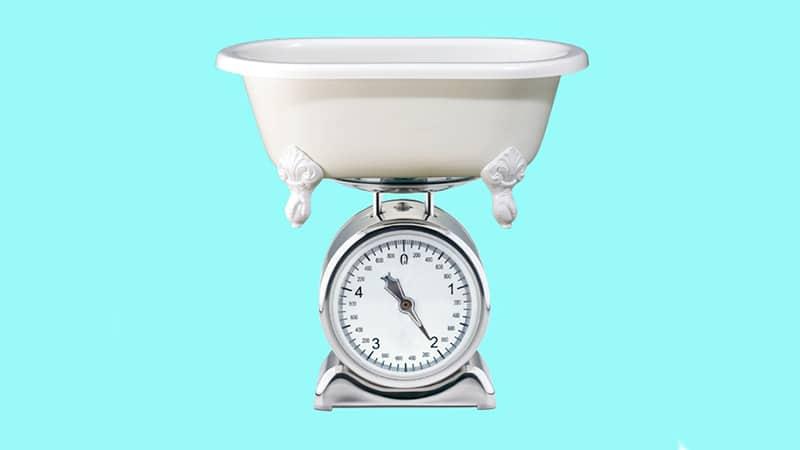 Самая полная информация о том, сколько весит чугунная ванна