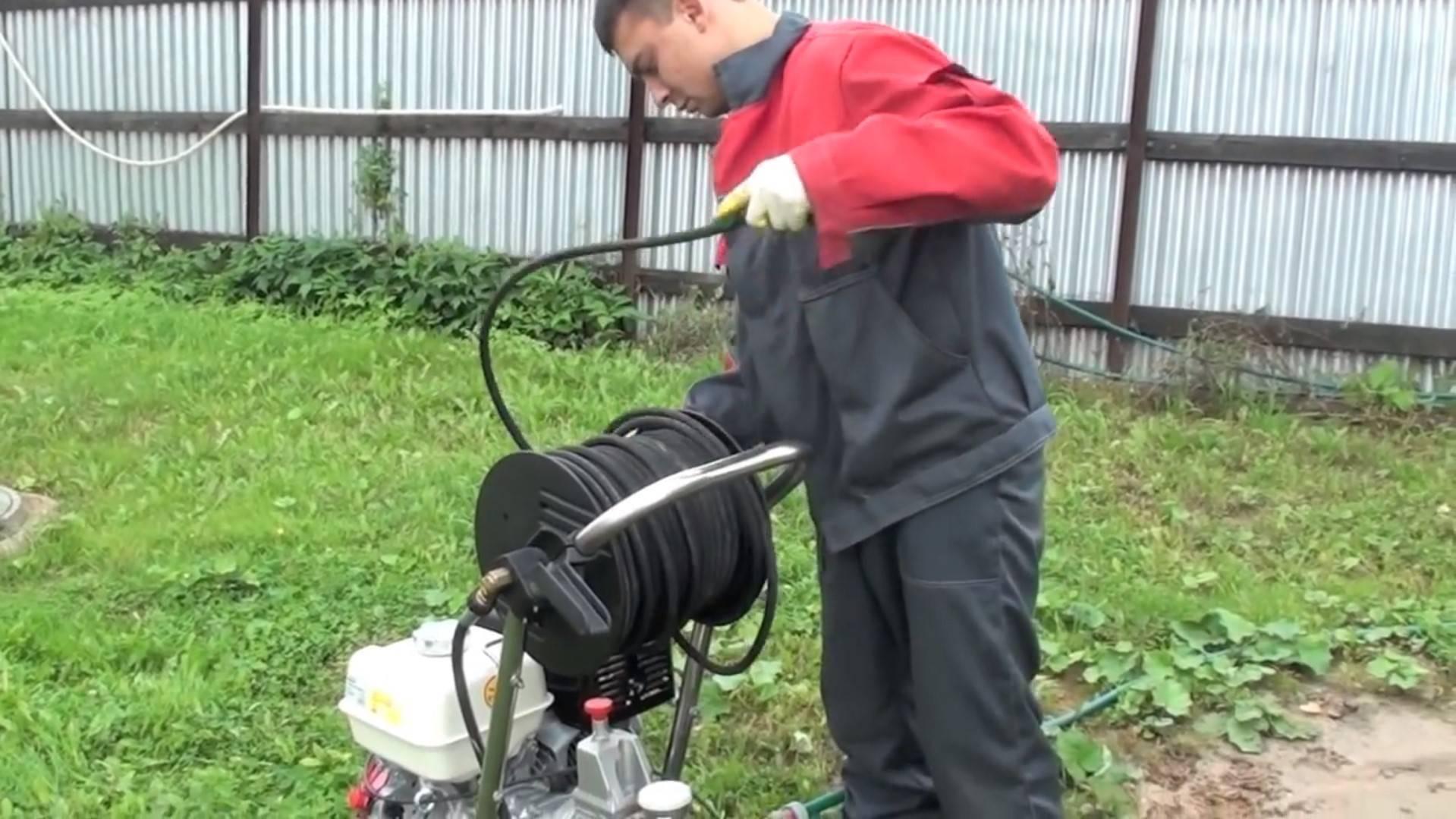 Промывка канализации гидродинамическая: промывка труб форсункой