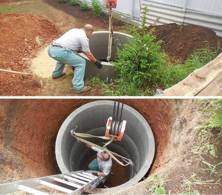Как правильно сделать канализацию из железобетонных колец?