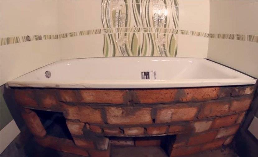 Каркас для ванны: способы изготовления своими руками