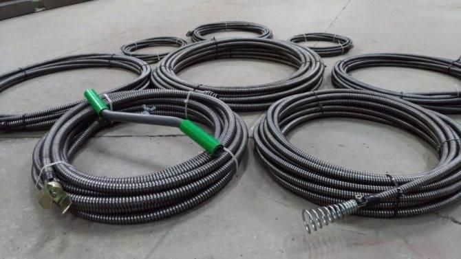 Трос для прочистки канализации — виды инструментов и как их правильно использовать