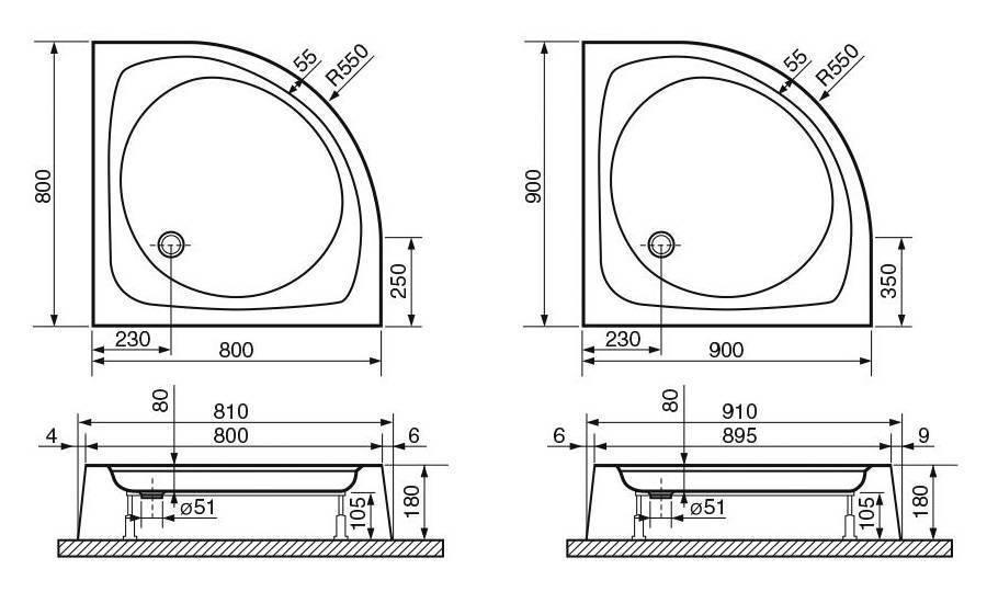 Душевой поддон обзор и особенности установки. душевая без поддона какой материал выбрать для поддона