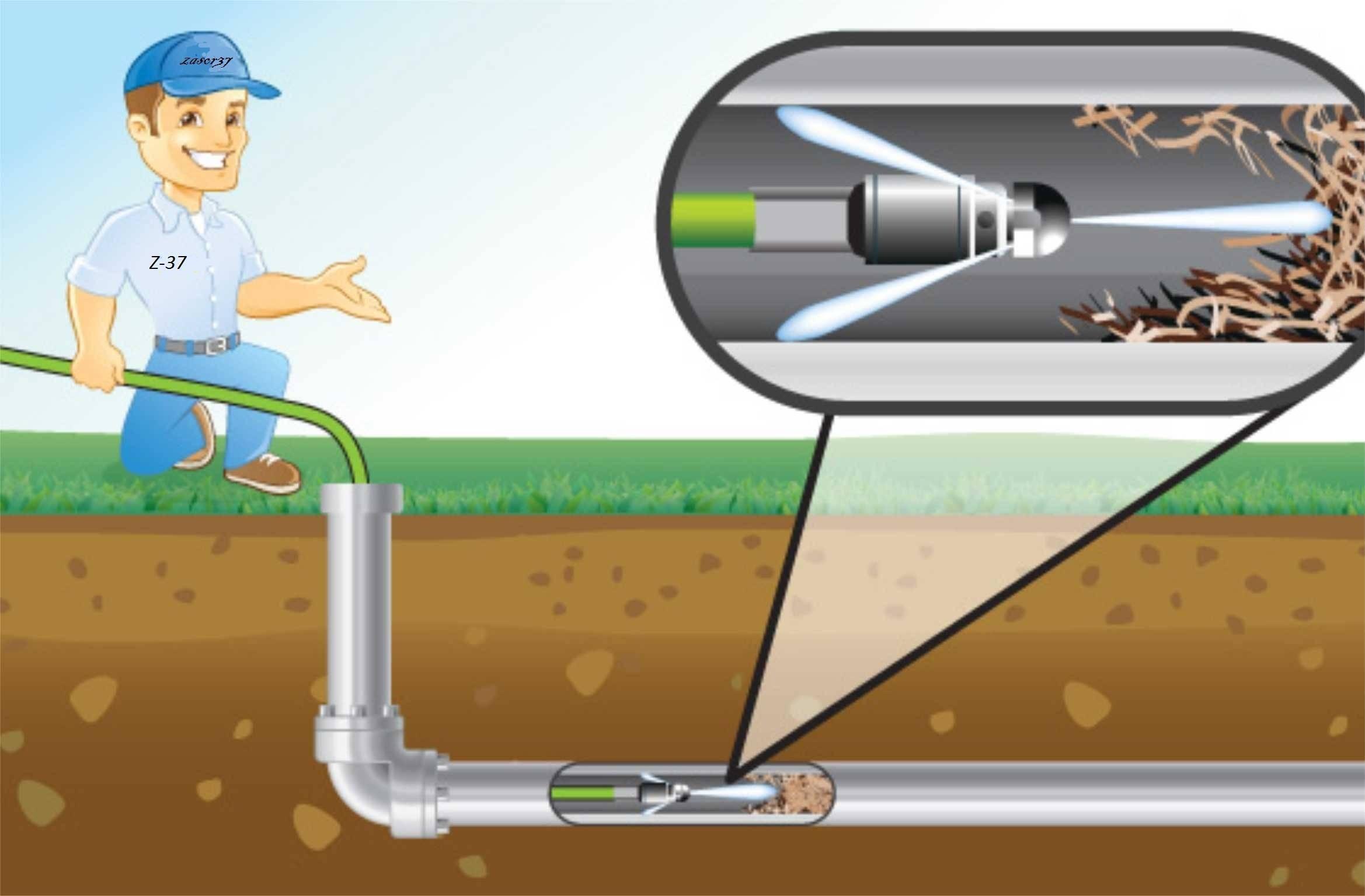 Прочистка канализации гидродинамическим способом: что это такое (видео)