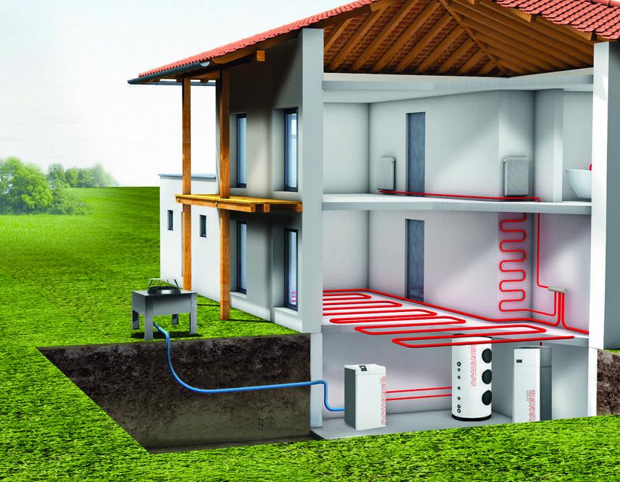 Принцип работы отопительных систем с геотермальным тепловым насосом