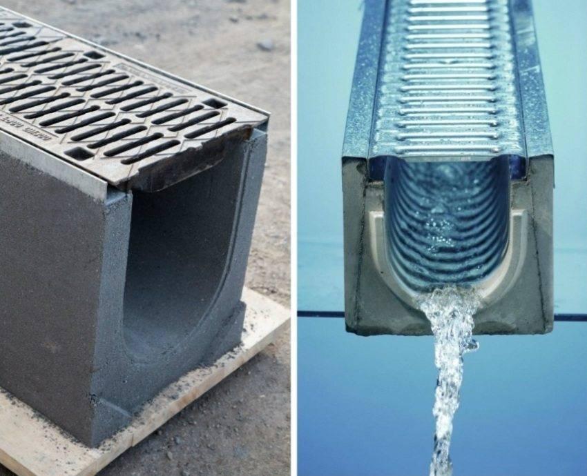 Виды и правила монтажа бетонных водоотводных лотков