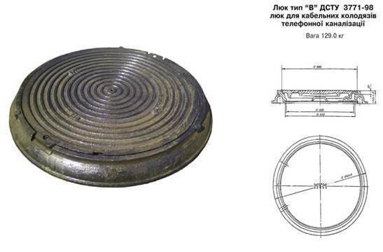 Диаметр крышки люка канализационного колодца