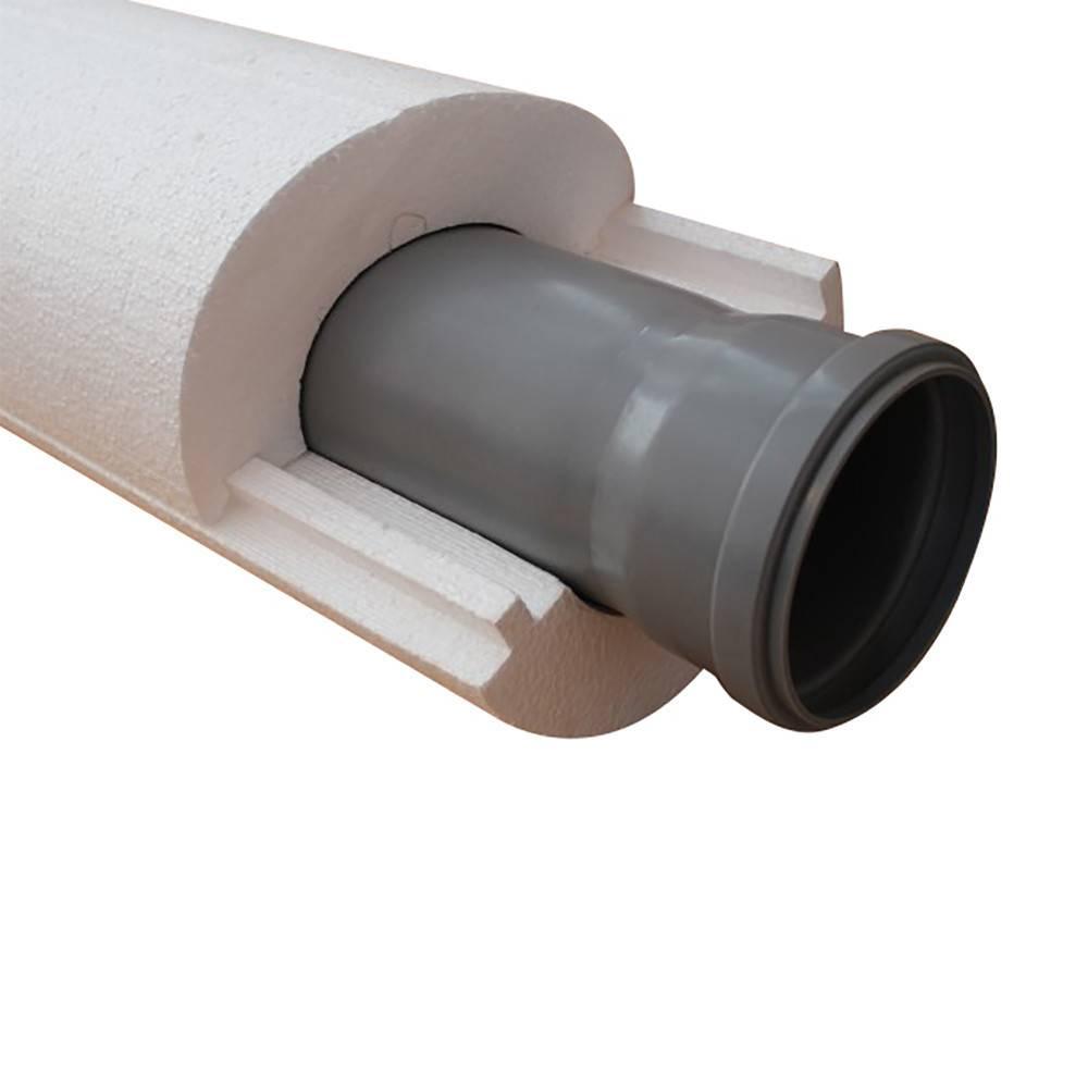 Утепленная труба для канализации: теплоизоляция скорлупа