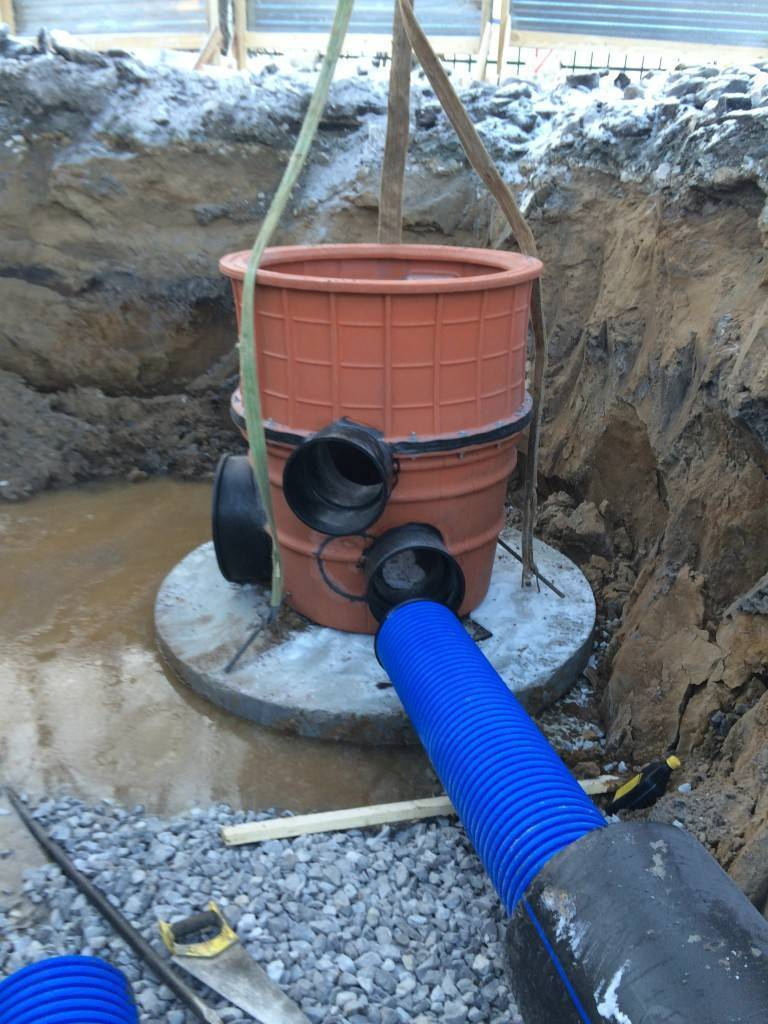 Дренажный колодец для канализации: 3 вида + какой лучше выбрать