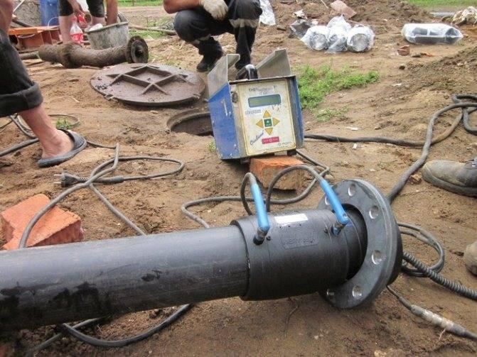 Электромуфтовая сварка труб пнд: электромуфтами встык, технология сварки полиэтиленовых труб муфтами