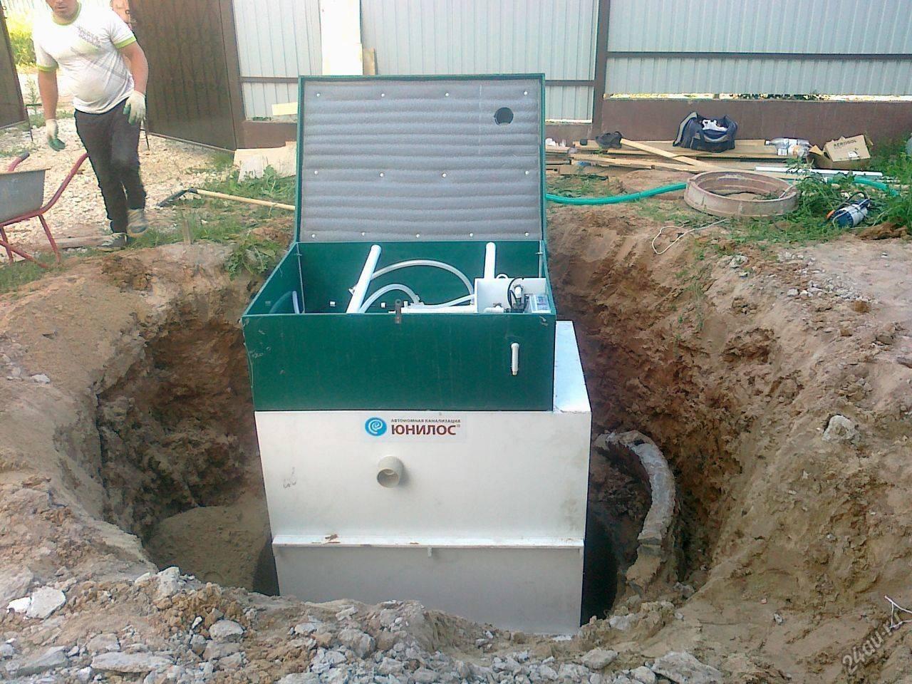 Юнилос: принцип работы автономной канализации частного дома, технология очистки стоков, видео и фото