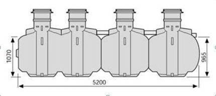 Сравнение очистной станции топас и  септика упонор