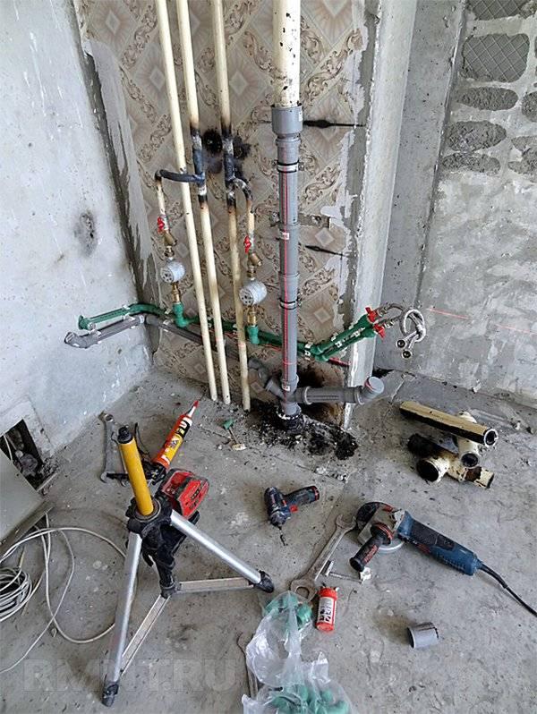 Замена стояков: фановый вариант для канализации, замена конструкции для горячего и холодного водоснабжения в квартире, как поменять канализационный стояк
