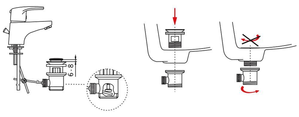 Донный клапан: что это такое, выпуск для раковины и заглушка «клик-клак» для ванны, пробка без перелива, белые модели grohe