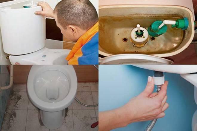 Потёк сливной бачок: не держит воду, что делать, течь в унитазе после смыва и ремонт, утекает через клапан слива, течёт бачок с кнопкой после наполнения
