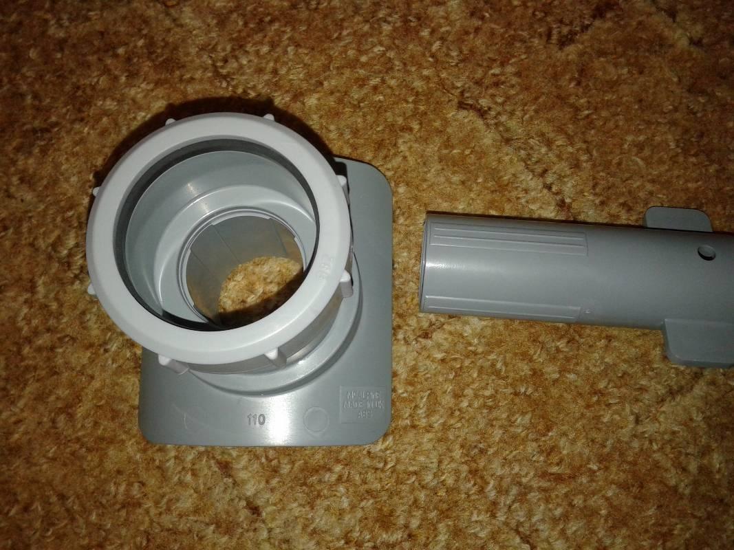 Как выполнить врезку в канализационную трубу диаметром 110 мм?