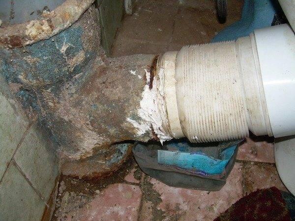 Замена чугунной канализации на пластиковую своими руками