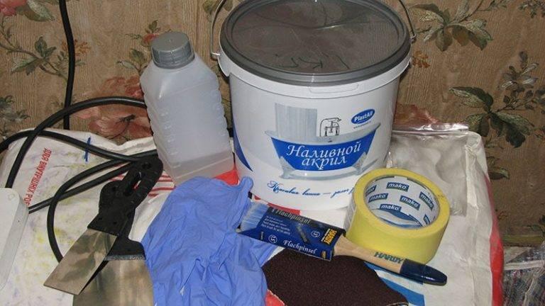 Реставрация ванн (64 фото): способы восстановления, выбор краски, покраска и заливка своими руками, отзывы