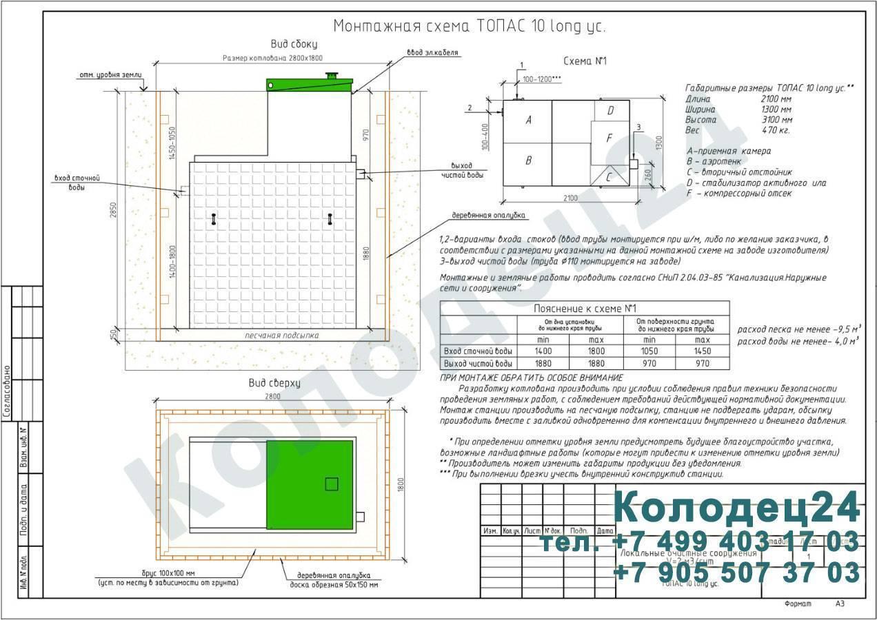 Септик топас: преимущества использования, модификации, порядок монтажа, правила эксплуатации