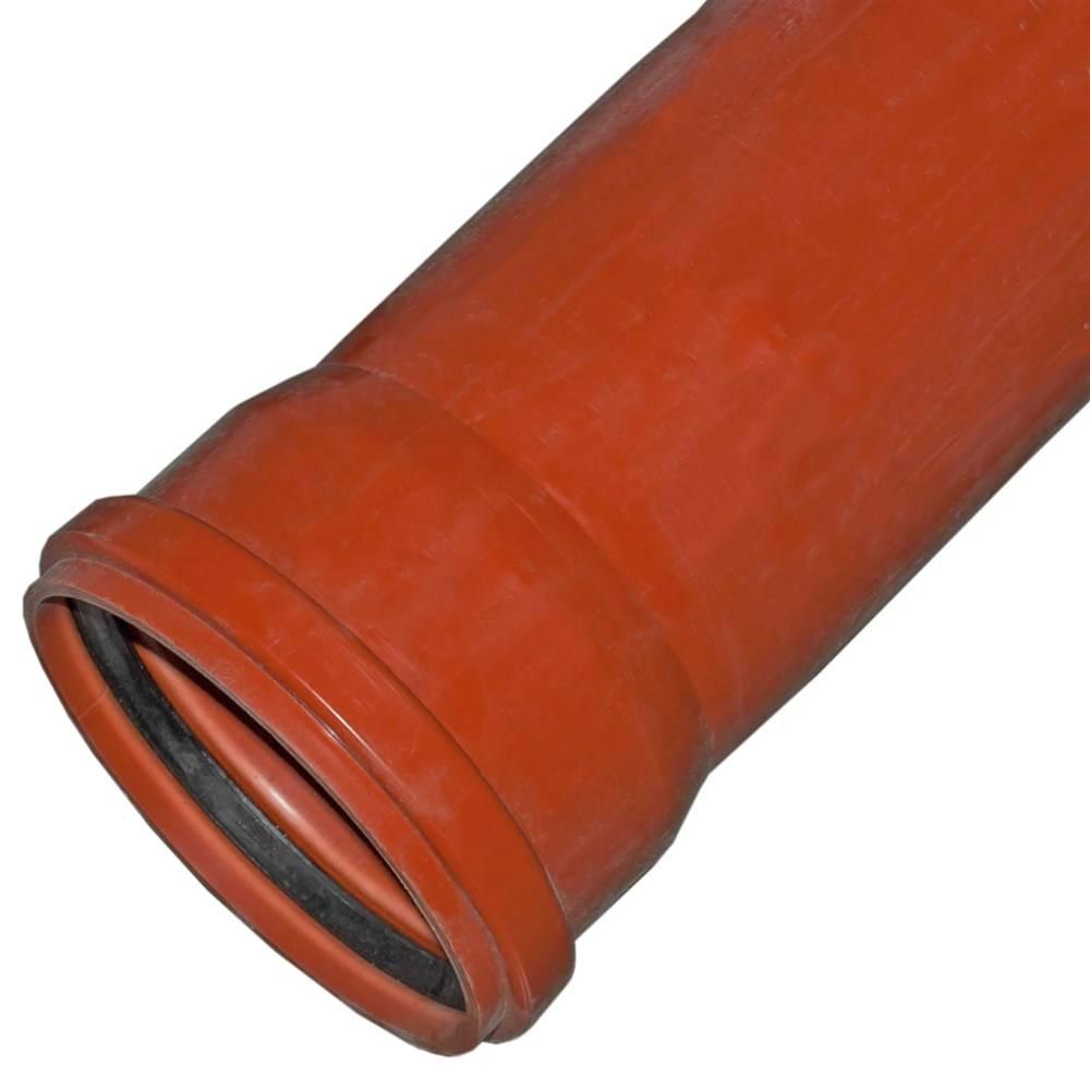 Трубопровод канализации из полиэтиленовых труб