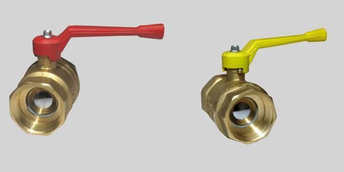 Кран шаровый для водопровода на трубу: сантехнический полуоборотный вентиль