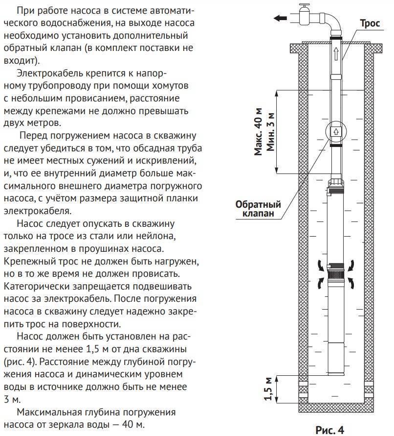 Глубинные насосы для скважин до 50 метров: виды погружных насосов и критерии выбора