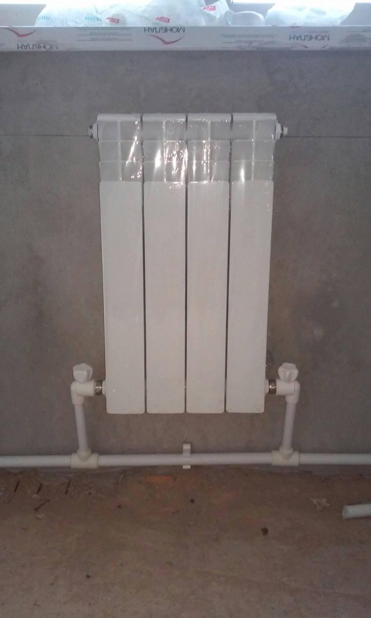 Установка биметаллических радиаторов отопления – порядок работ