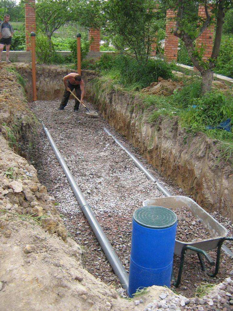 Водоотводная канава вдоль участка. способы осушения участка без дренажа. назначение дренажных ям