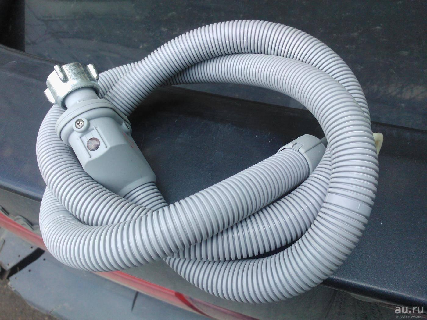Заливной шланг для стиральной машины. резиновый, армированный, с защитой аквастоп +видео