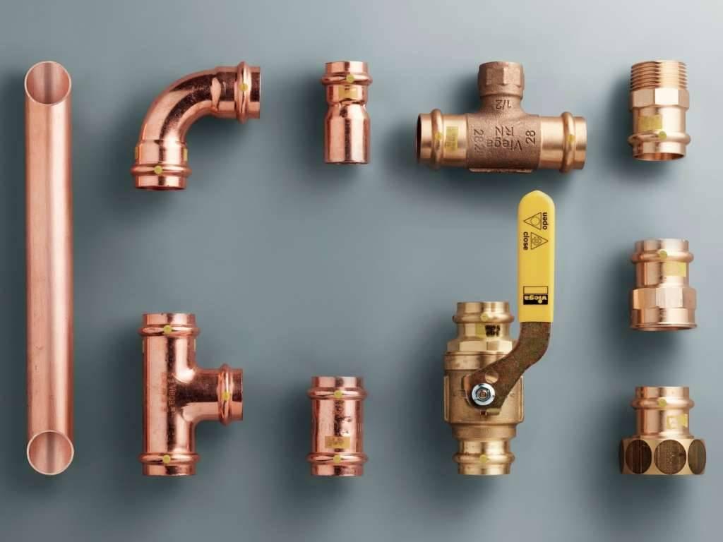 Фитинги для медных труб: виды соединительных элементов и правила монтажа