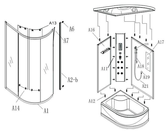 сборка душевых кабин своими руками: пошаговая инструкция