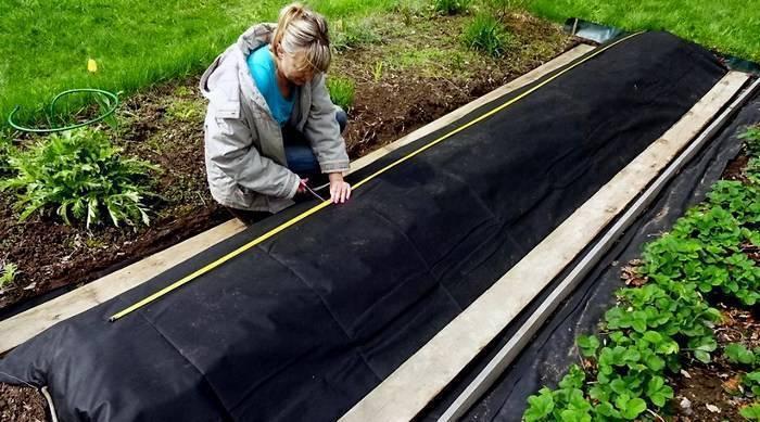 Укладываем правильно геотекстиль, для борьбы с сорняками