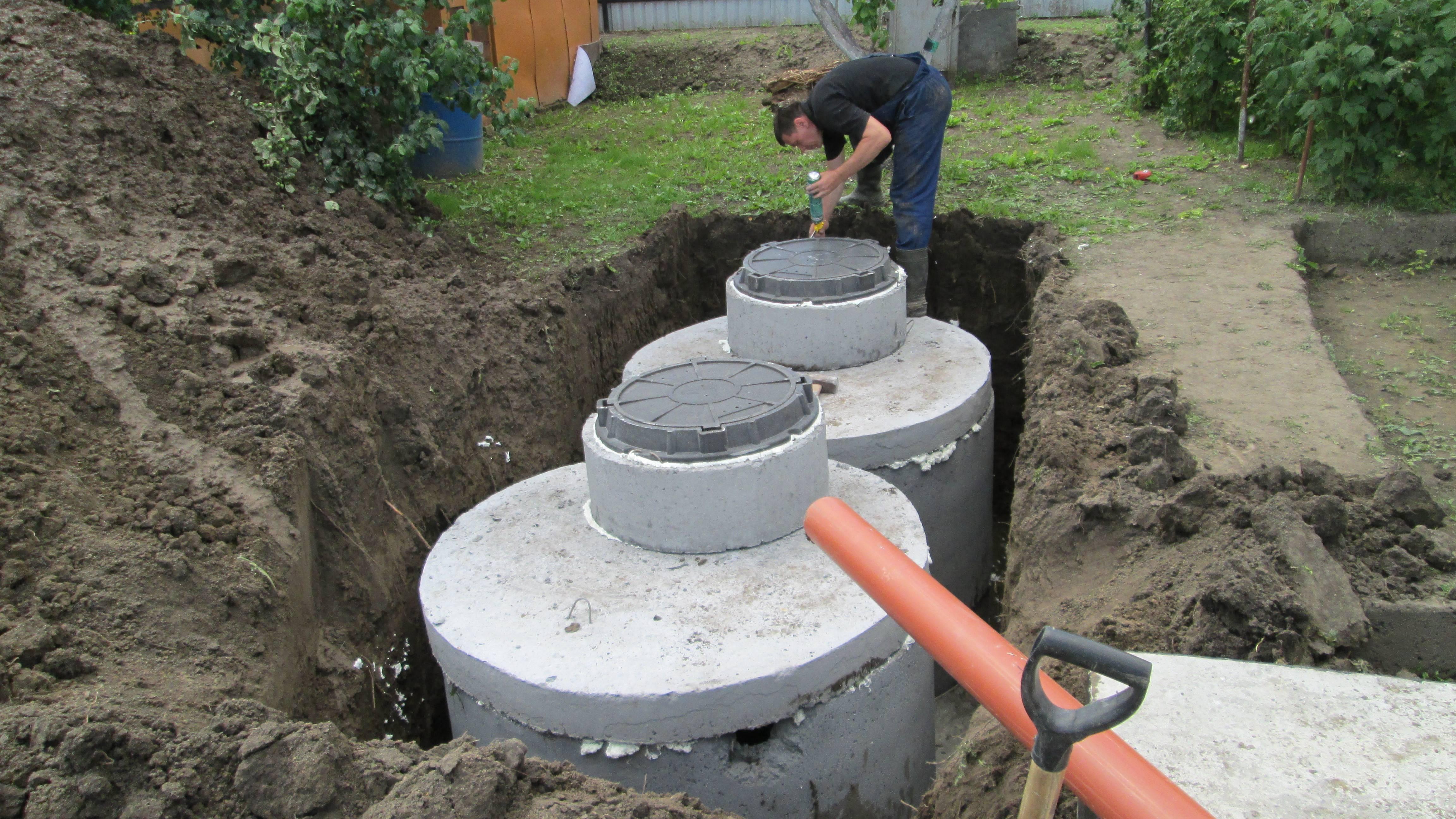 Септик из бетонных колец своими руками: пошаговая инструкция